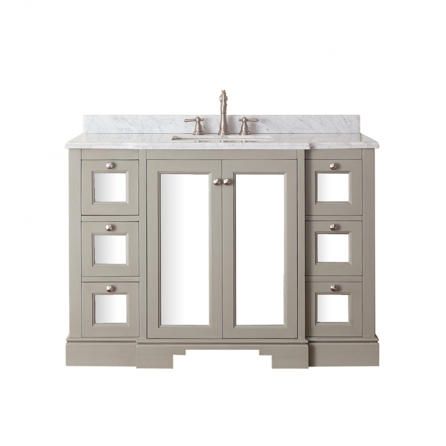 48 Inch Single Sink Bathroom Vanity in French Gray