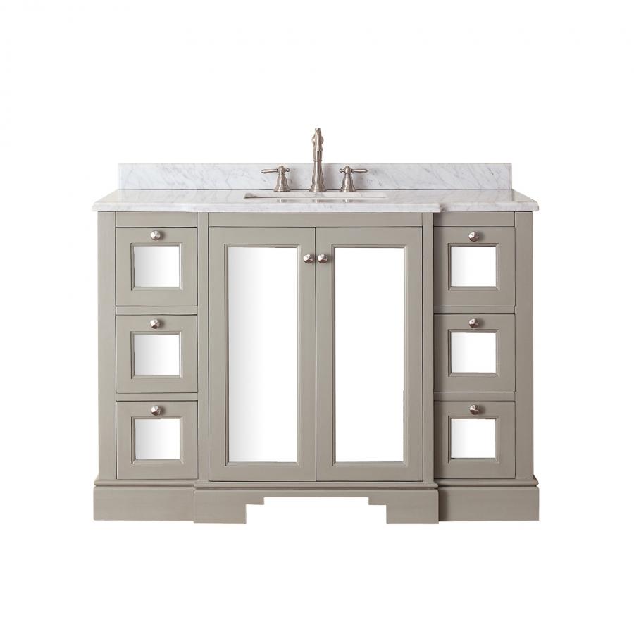 48 inch single sink bathroom vanity in french gray UVACNEWPORTV48FG48