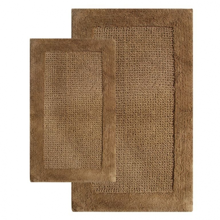 2 Piece Naples Bath Rug Set In Linen UVCM38240