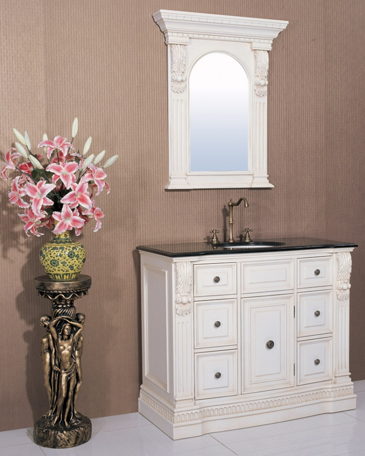 43 inch single sink bathroom vanity with choice of finish