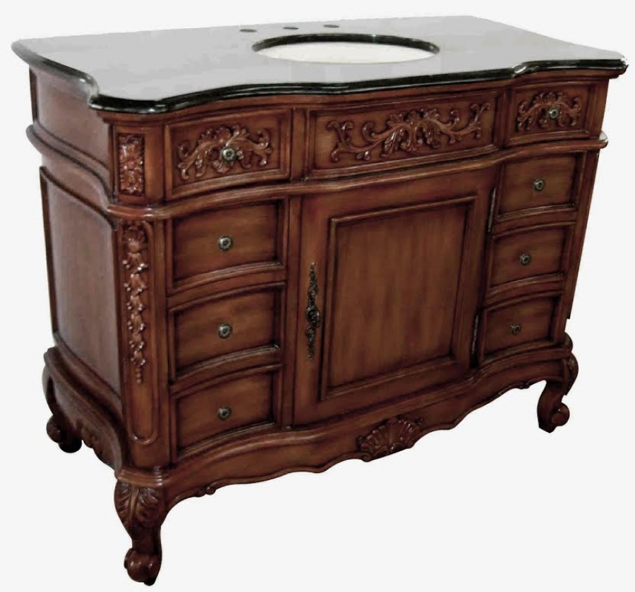 45 5 inch single sink bathroom vanity with 8 small drawers uvcdq0754845. Black Bedroom Furniture Sets. Home Design Ideas