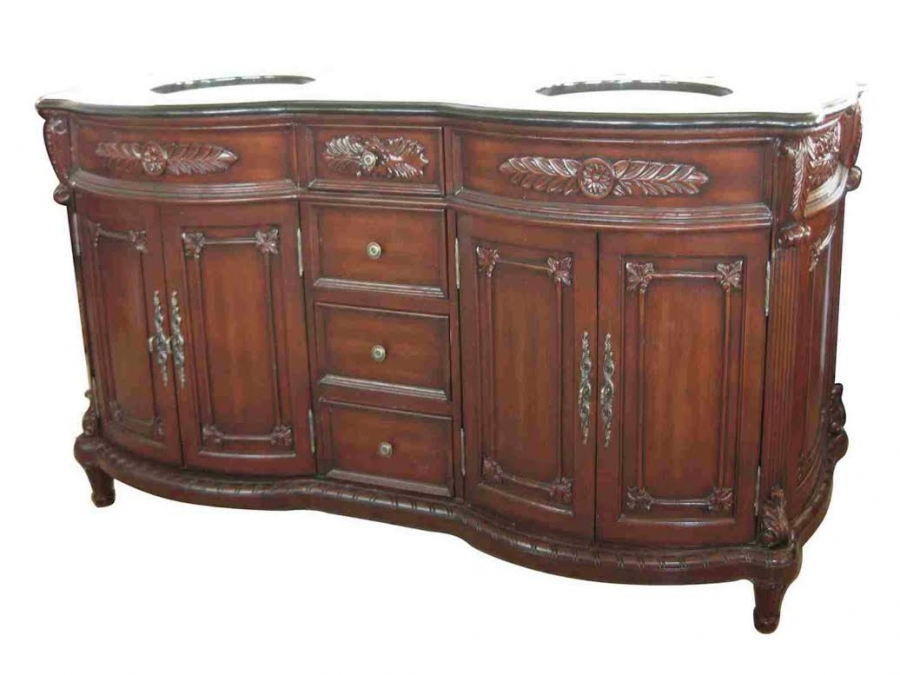 72 inch double sink bathroom vanity in cherry walnut stain uvcdq11872 for 72 inch bathroom vanity double sink