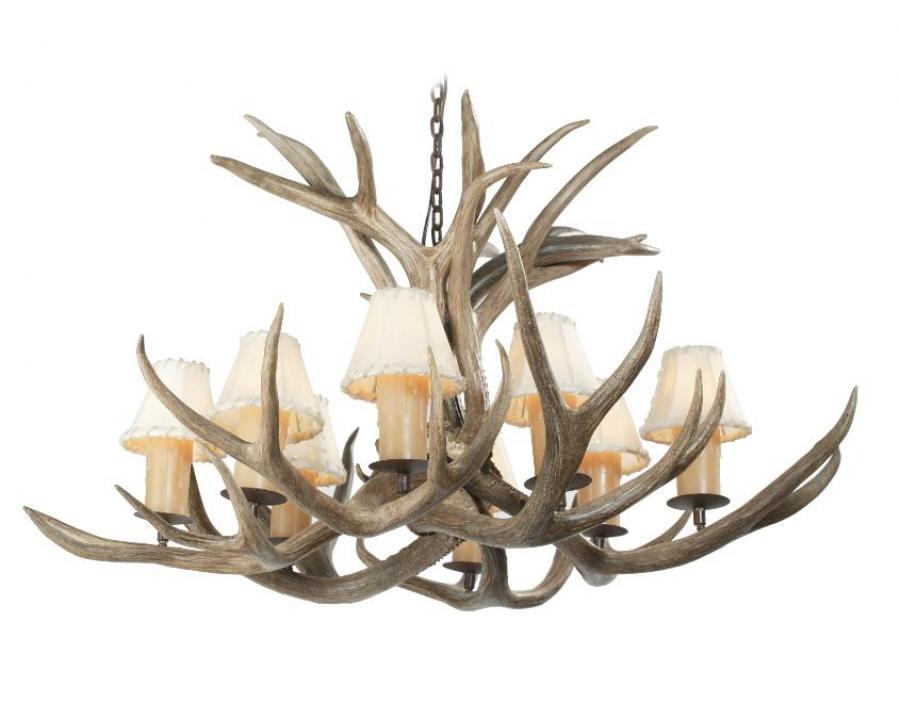 light mule deer antler chandelier uvsis113. Black Bedroom Furniture Sets. Home Design Ideas