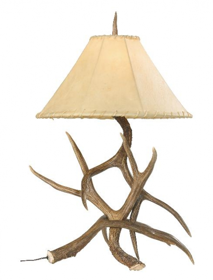 Mule Deer Antler Table Lamp Uvsis131