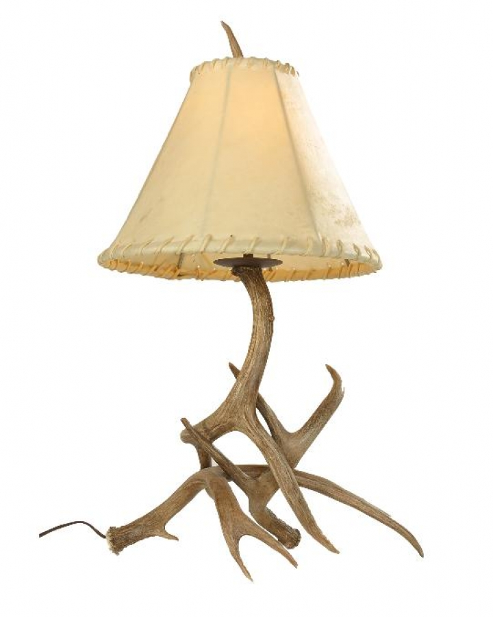 Mule Deer Antler Table Lamp Uvsis134