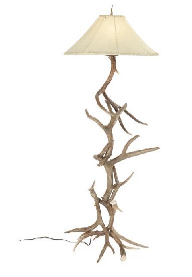 mule deer antler floor lamp uvsis139m