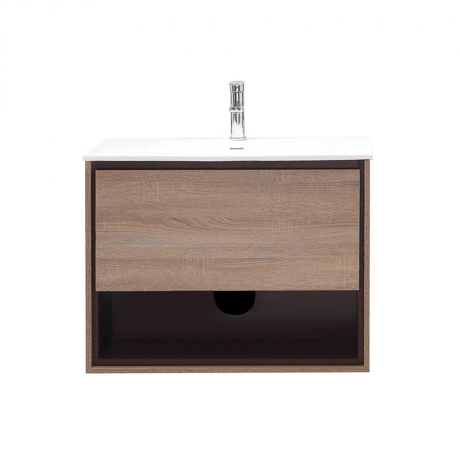 31 inch single sink bathroom vanity in restored khaki