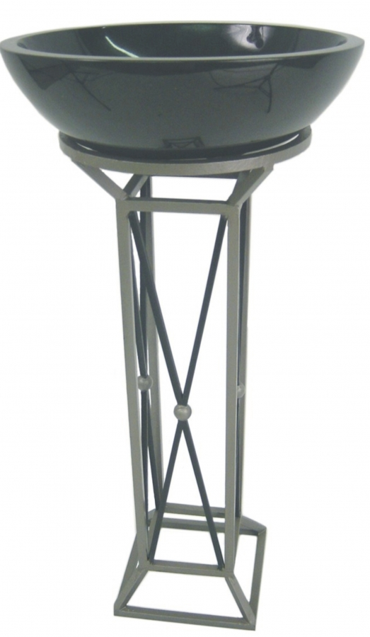20 Inch Vessel Sink Pedestal With Choice Of Finish Uvqstlvth20