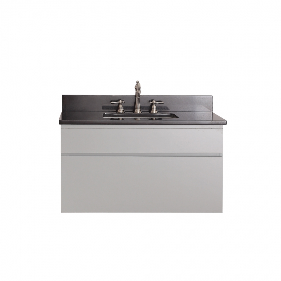 36 Inch Single Sink Bathroom Vanity In Chilled Gray Finish Uvactribecav36cg36