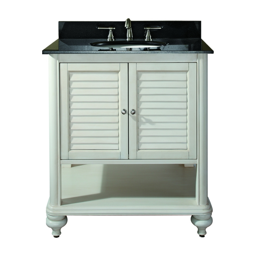 31 Inch Single Sink Bathroom Vanity with Antique White ...