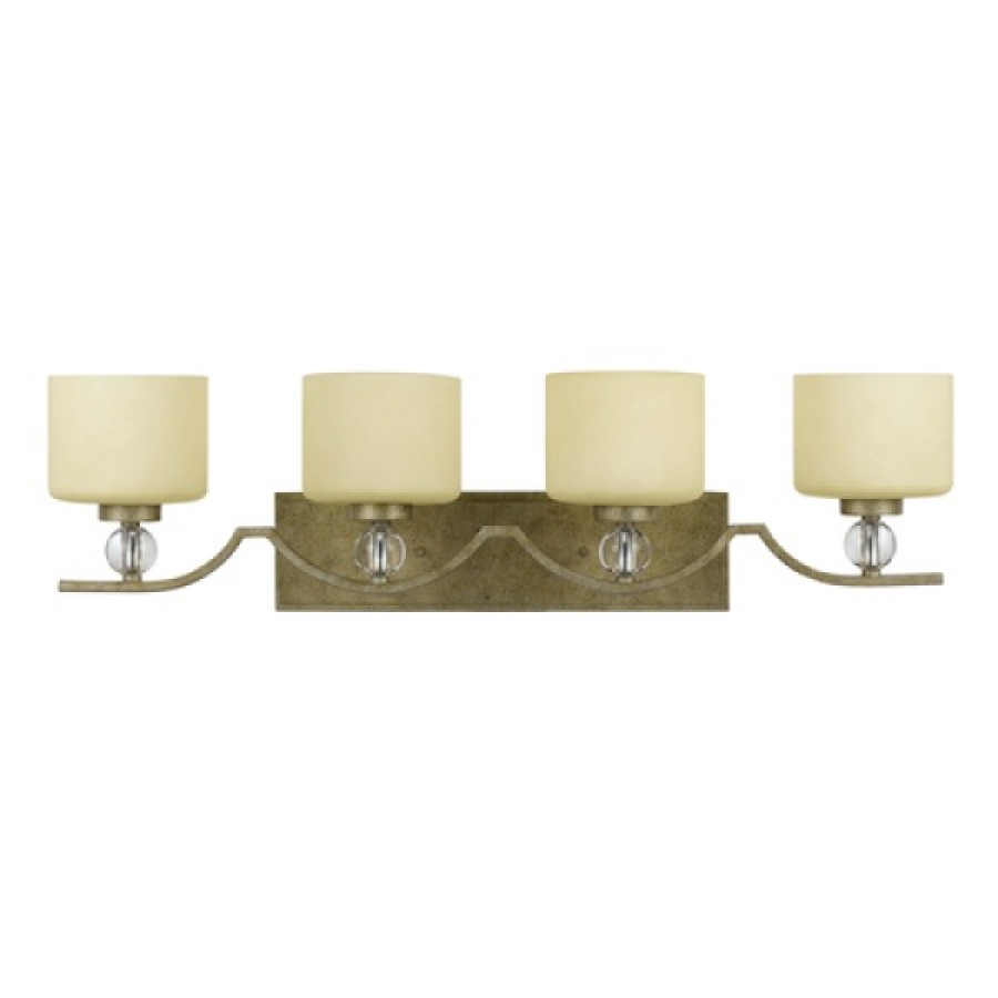 4 light vanity lighting in bronze with gold trim