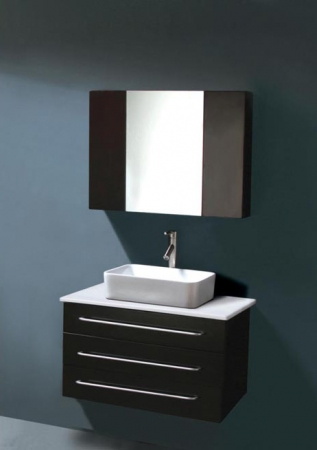 31 5 Inch Modern Single Sink Bathroom Vanity Espresso Wall