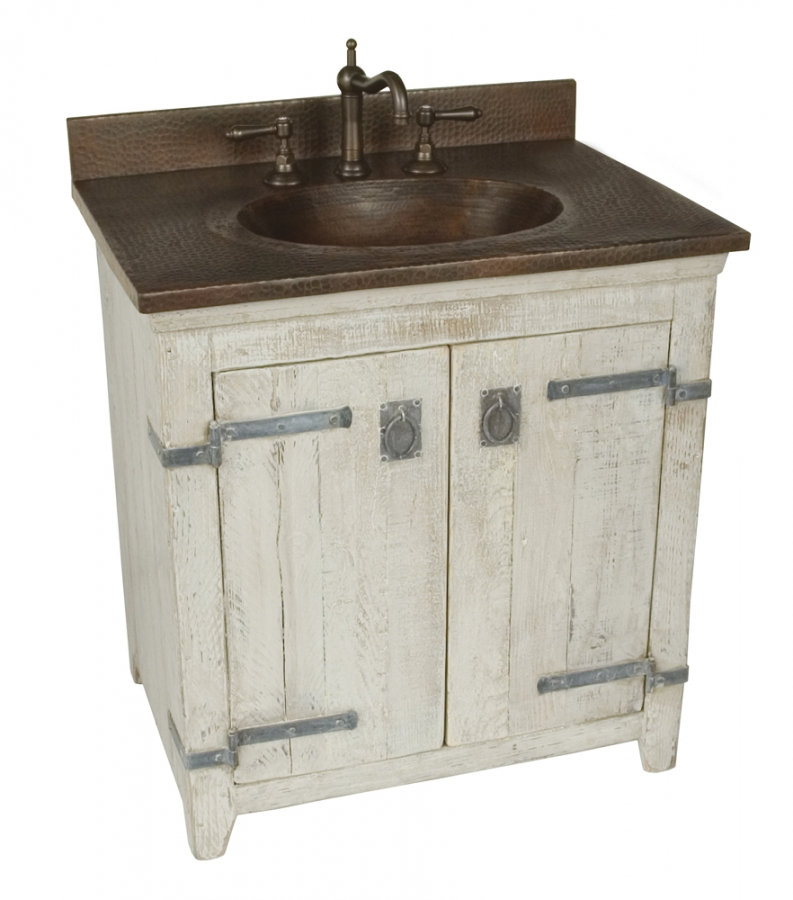 Rustic Bathroom Vanities Transitional With Copper Sink Vanity Lights