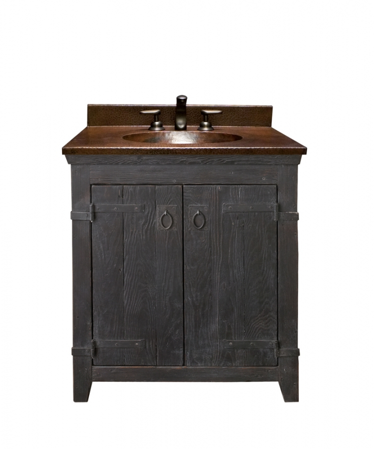 30 Inch Single Sink Bath Vanity with Copper Top UVNTVNB
