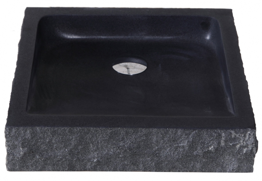 Shanxi Black Granite Square Vessel Sink Uvvuvst2019bas