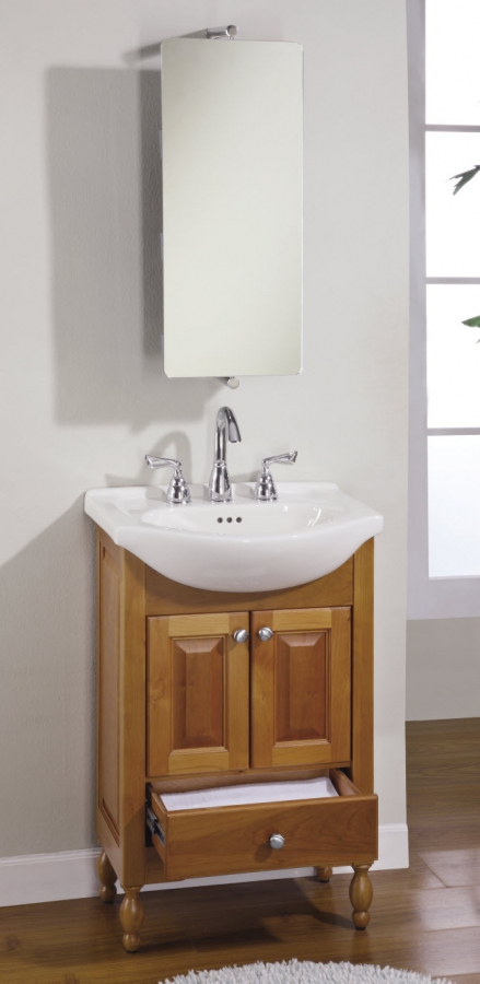 22 Inch Single Sink Narrow Depth Furniture Bathroom Vanity With Choice Of Finish And Sink Uveiw22