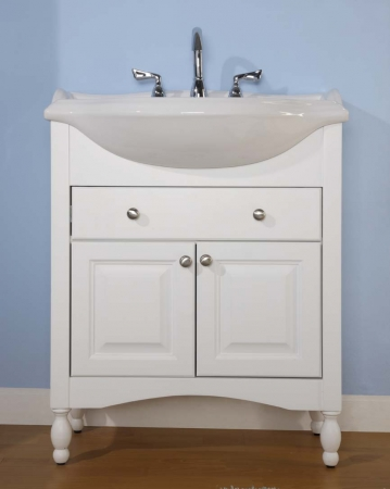 Charmant 34 Inch Single Sink Narrow Depth Furniture Bathroom Vanity With Choice Of  Finish And Sink UVEIW34