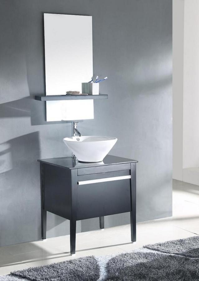 26 inch modern vessel sink bathroom vanity in espresso Modern bathroom vanities with vessel sinks