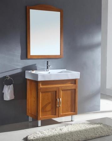 31 5 Inch Modern Single Sink Bathroom Vanity In Honey Oak