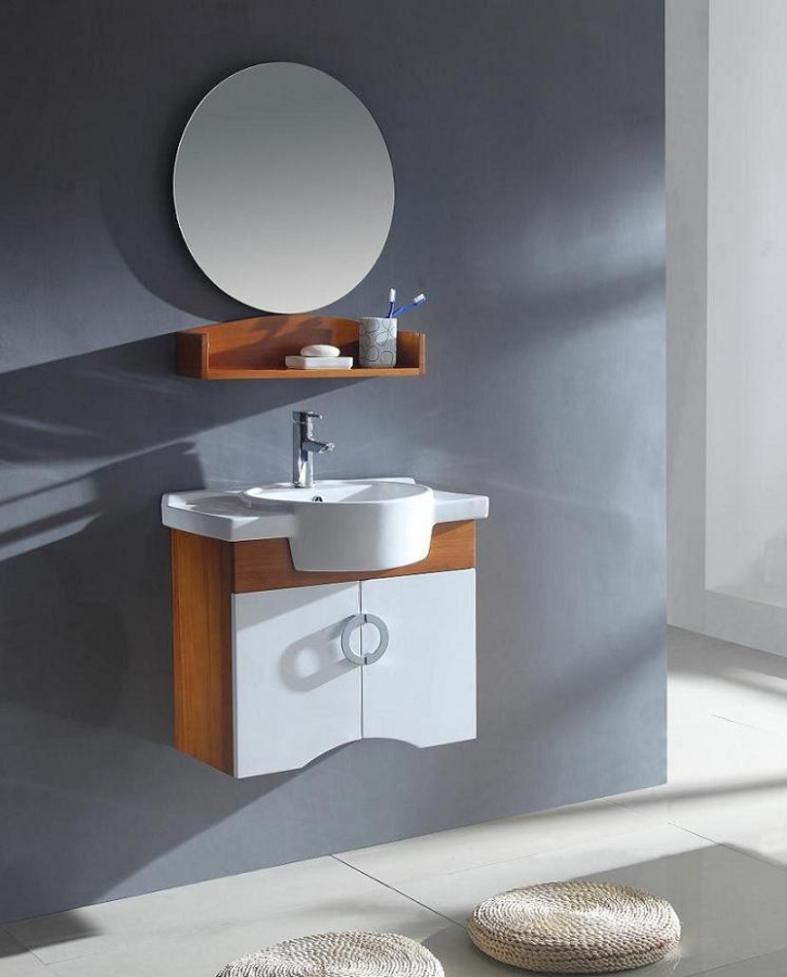 25 5 Inch Modern Single Sink Bathroom Vanity In Natural Maple And White Uvlf314026