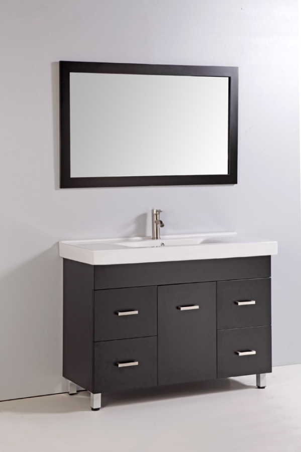 home 48 inch single sink bathroom vanity with soft close hinges