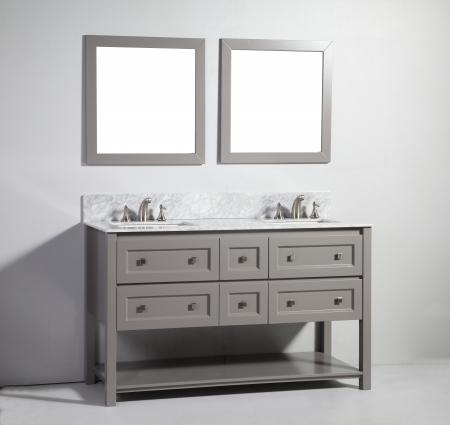 60 Inch Modern Double Sink Vanity In Light Gray Uvlfwa7760lg