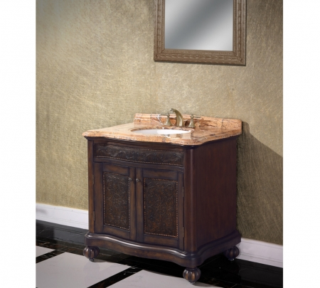home 36 inch single sink bathroom vanity with choice of countertop