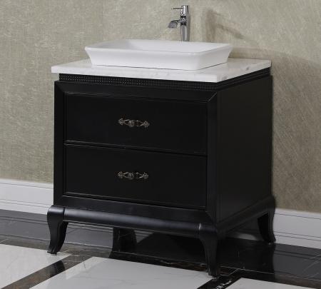 32.3 Inch Single Sink Bathroom Vanity in Matte Black ...
