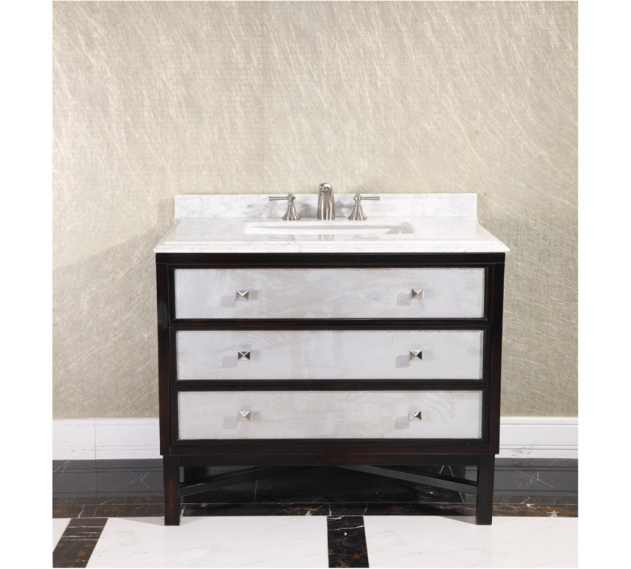 36 Inch Single Sink Bathroom Vanity In Espresso With White Uvlfwb1936mt36