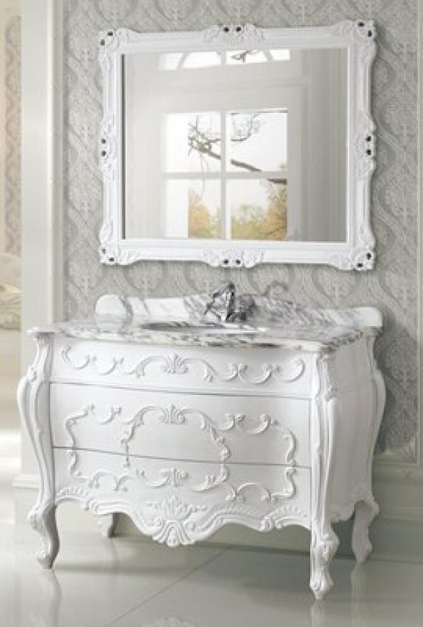 47 inch single sink bath vanity in white uvlfwb1966547. Black Bedroom Furniture Sets. Home Design Ideas