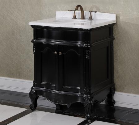 30 inch single sink bathroom vanity in matte black - 30 inch single sink bathroom vanity ...