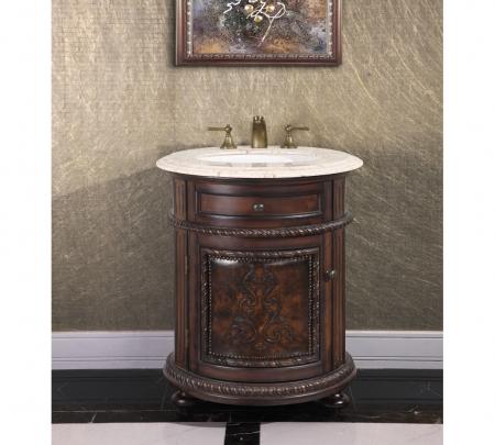 24 inch single sink bathroom vanity in dark walnut uvlfwb2324l24