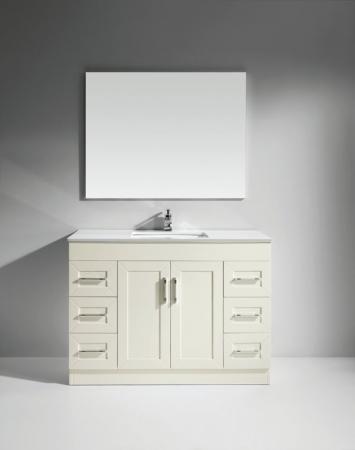 47 inch single sink bath vanity in white uvlfwc520b47 On 47 inch bathroom vanity