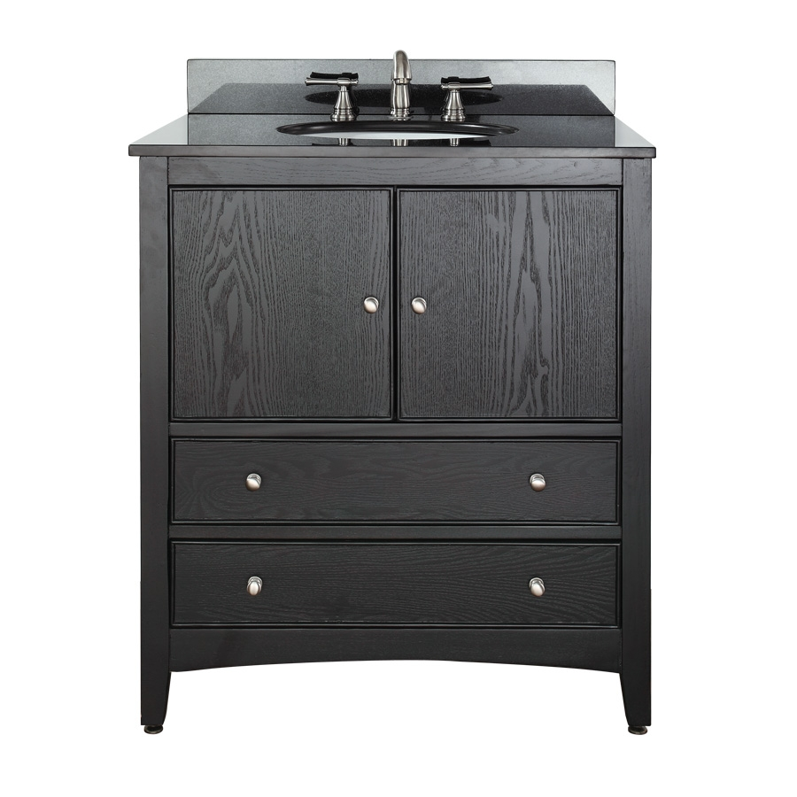 30 inch single sink bathroom vanity with choice of top for Bathroom 30 inch vanity