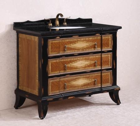 47 Inch Single Sink Bathroom Vanity With Black Granite