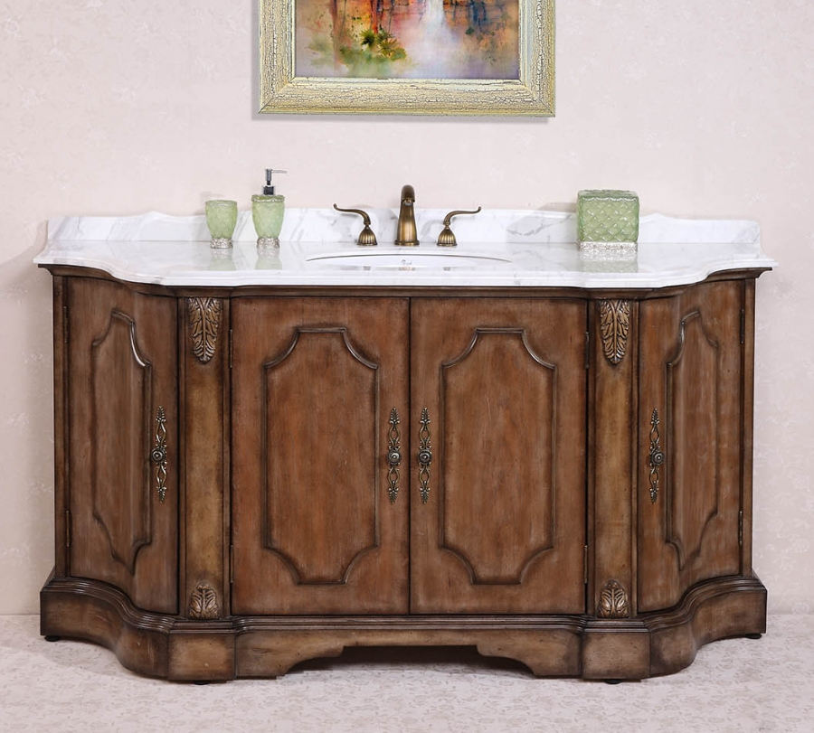 68 inch single sink bathroom vanity in antique tan - 72 inch single sink bathroom vanity ...