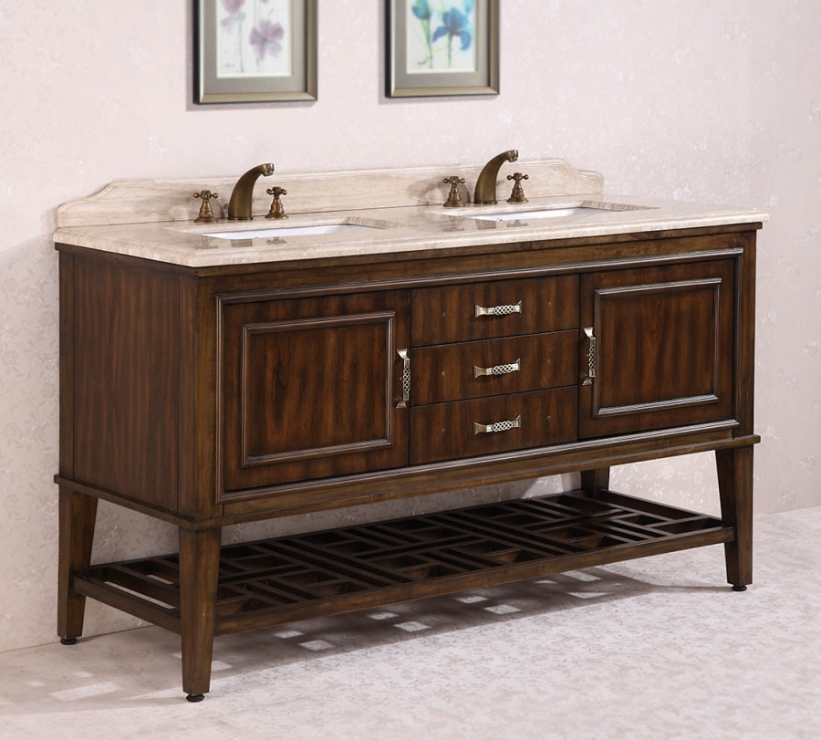 65 inch double sink bathroom vanity in walnut uvlfwh376565