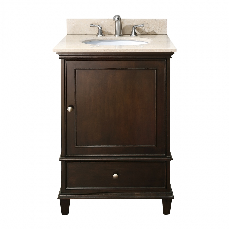 home 24 inch single sink bathroom vanity with choice of top