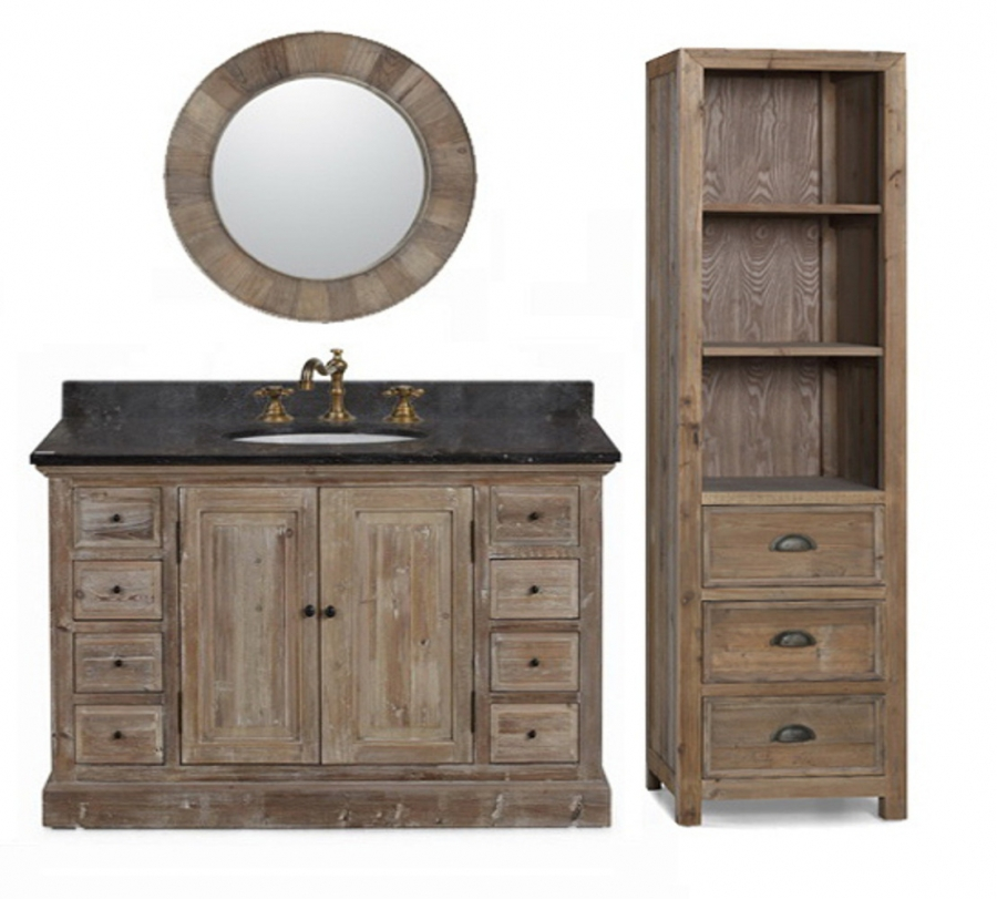 48 Inch Single Sink Bathroom Vanity In Natural Oak