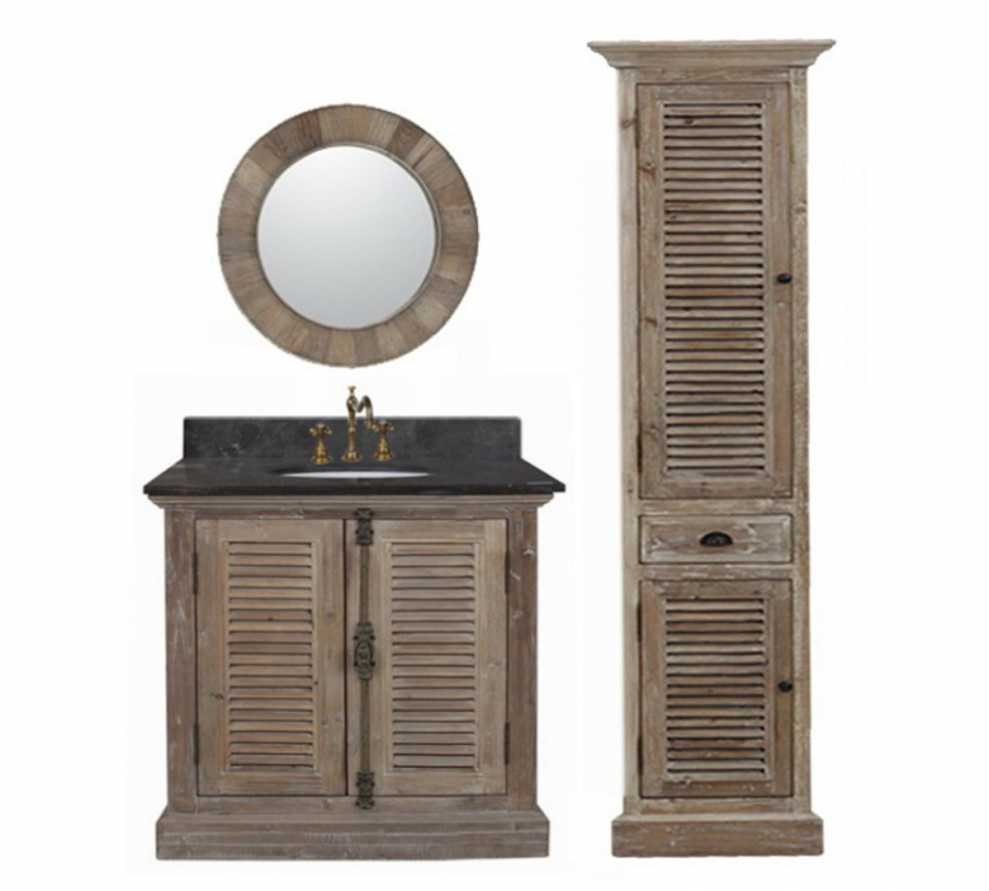 36 Inch Single Sink Bathroom Vanity In Natural Oak
