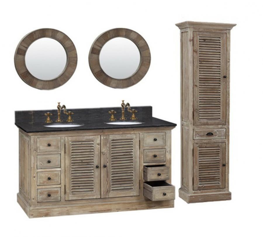 60 inch double sink bathroom vanity in natural oak uvlfwk196060