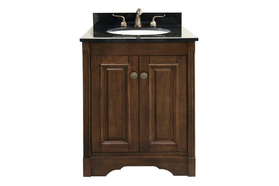 25 inch single sink bathroom vanity with choice of finish