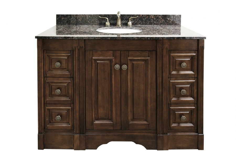 49 inch single sink bathroom vanity with choice of finish