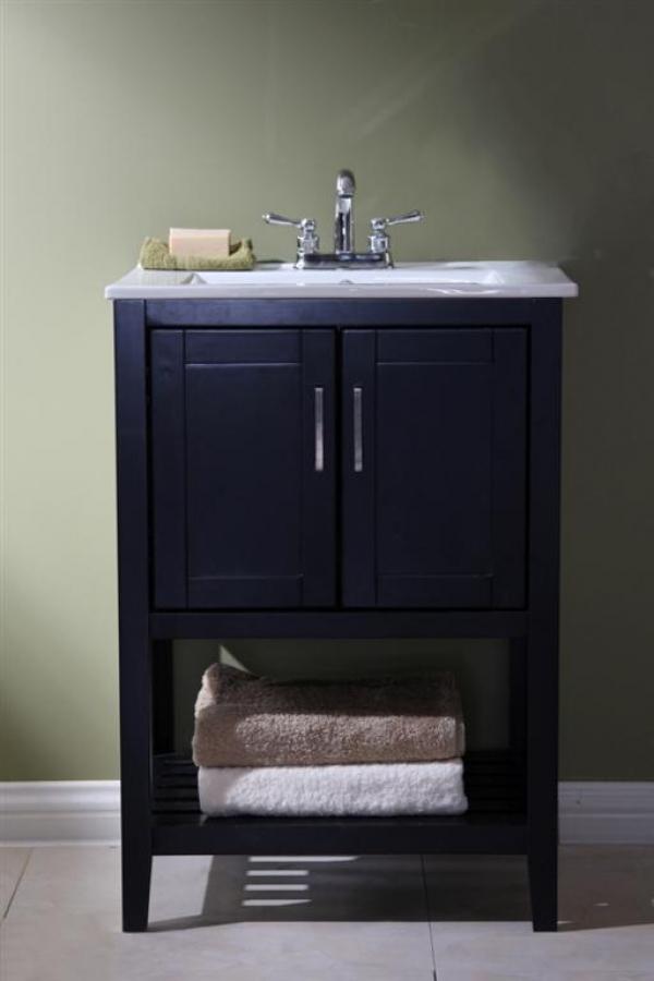 24 Inch Single Sink Bathroom Vanity In Espresso Uvlfwlf6020e24