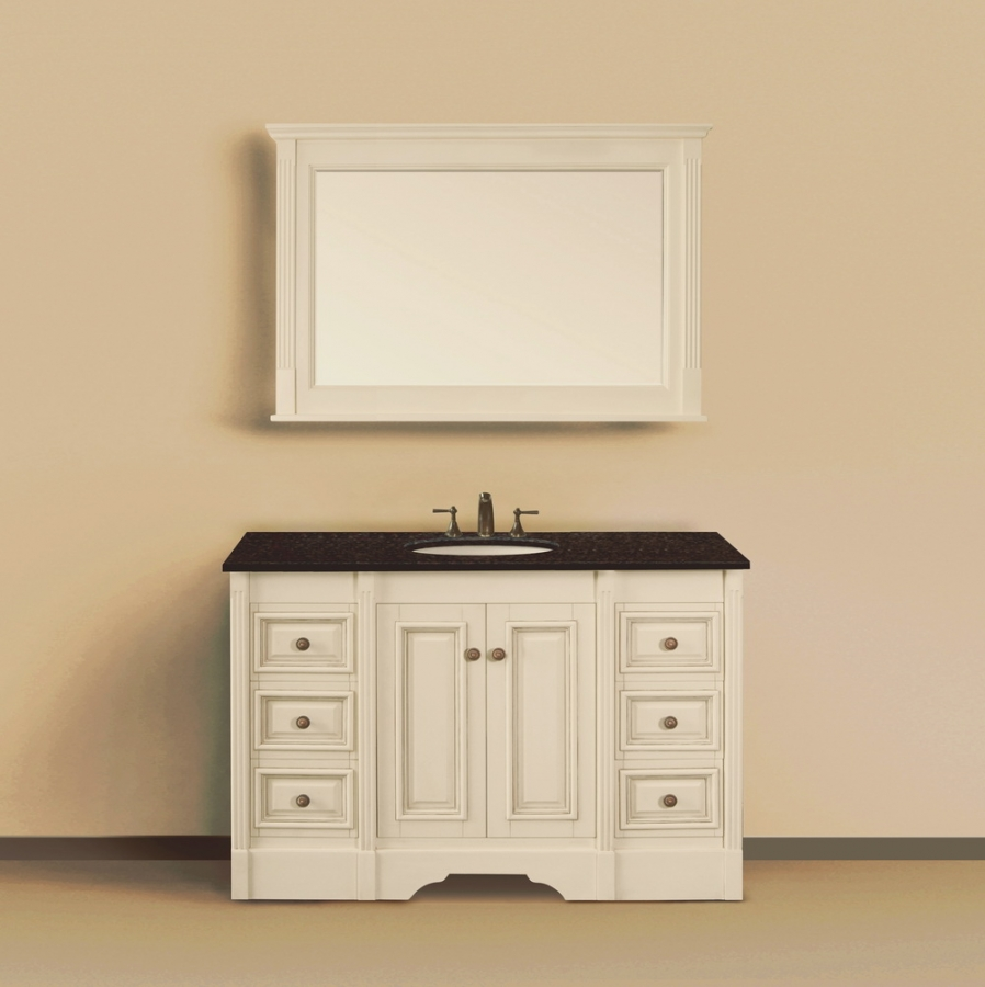 48 inch single sink bathroom vanity with extra storage uvlfwlf60264848