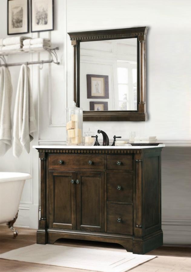 36 Inch Single Sink Bathroom Vanity In, 36 Inch Antique White Bathroom Vanity