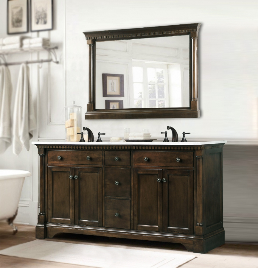 Simple  Vanities That Easily Fits Into The Corner And Couple It With Other Storage Units, Cabinets Or Even Floating Shelves To Fashion A Coherent Look RELATED 20 Contemporary Bathroom Vanities To Get Naked With Elegant And Stylish
