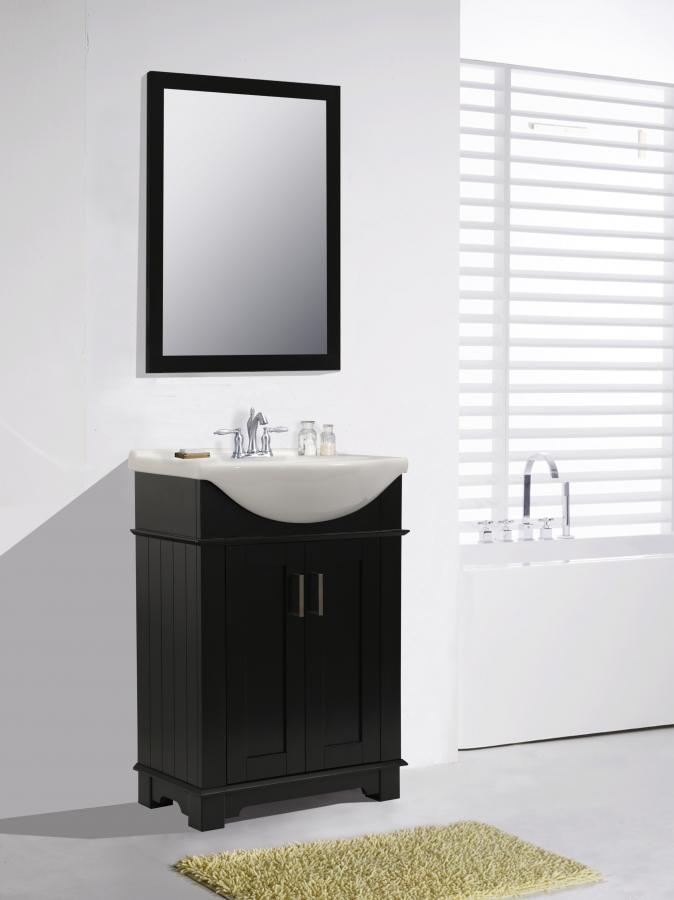 24 Inch Transitional Single Sink Vanity In Espresso