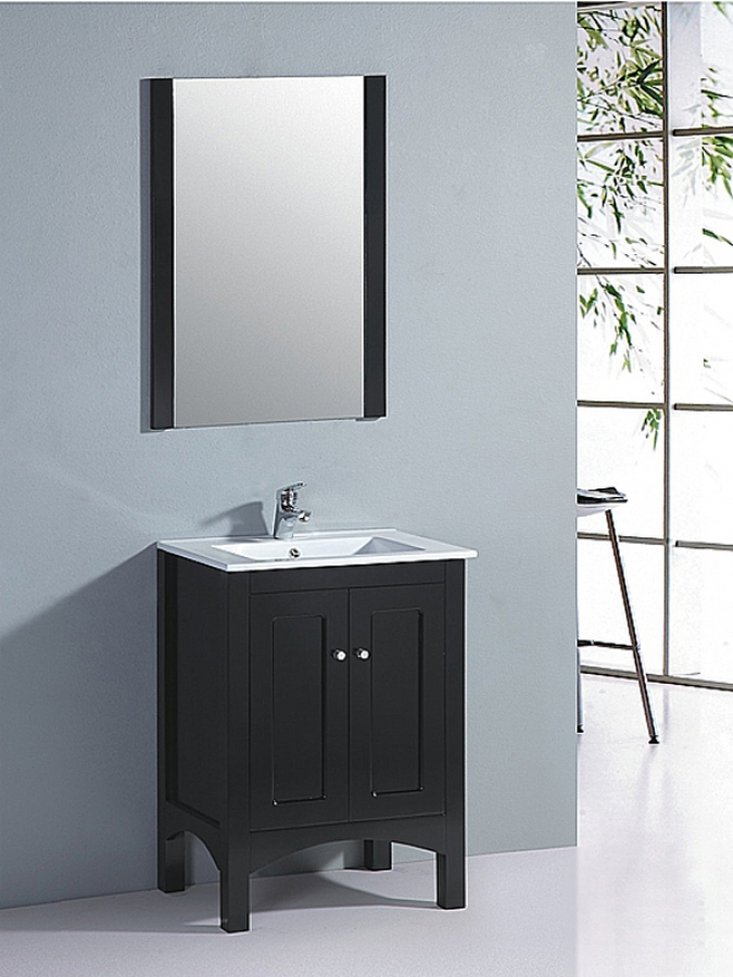 Matching Vanity Light And Mirror : 23.5 Inch Single Sink Bathroom Vanity with Matching Mirror UVLFWT910223