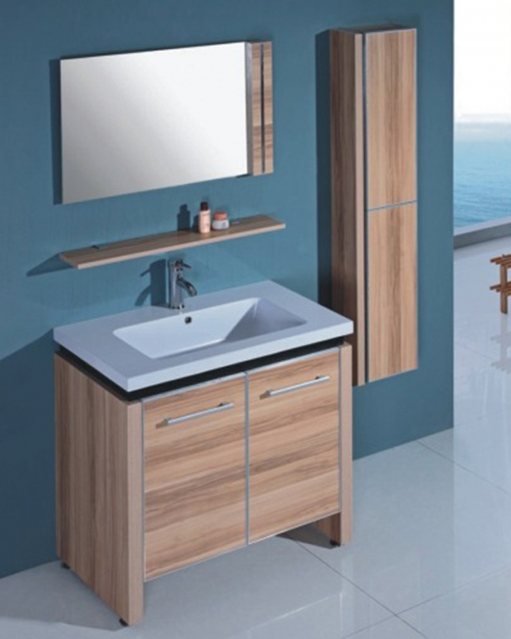 Superieur 31.5 Inch Modern Single Sink Bathroom Vanity With Integrated Ceramic Sink  And Mirror UVLFWTH093231